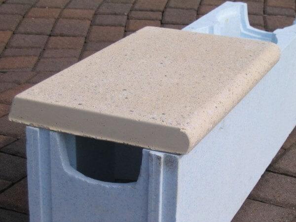 Randstein-Set für Achtformbecken sandfarben linear