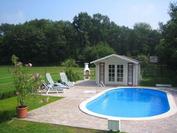 Ovalbecken-Set Swim All-in 450 x 300 x 150 cm 0,8 mm