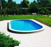 Ovalbecken Set Toscana sandfarben 3,50 x 7,00 x 1,50 m 0,8 mm
