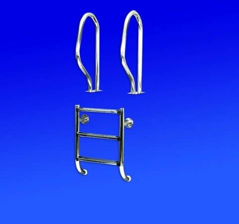 Einbauleiter 2-teilig 4 Stufen aus V2A