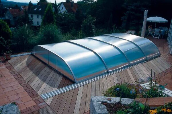 Schwimmbadüberdachung Sun Roof Elegance 1035 x 570 x 95 cm