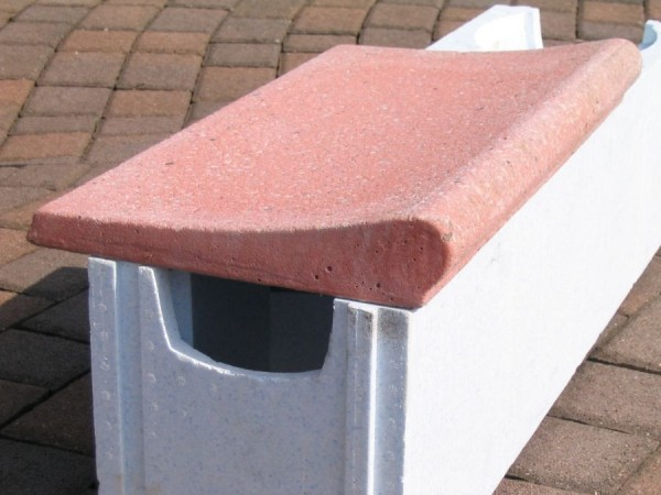 Beckenrandsteine für Ovalbecken 7,37 x 3,60 m rot Welle