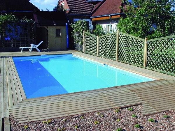 Schwimmbecken Set Achensee Top 40 7,00 x 3,50 m Ecktreppe