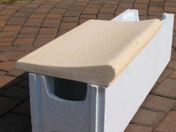 Randstein-Set für Rundbecken sandfarben Welle